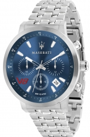 WATCH MASERATI GRANTURISMO 44MM CHR BLUE DIAL BR SS R8873134002