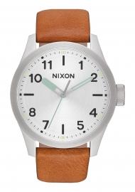 WATCH NIXON SAFARI LEATHER SILVER / BROWN A9752853