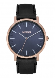WATCH NIXON PORTER LEATHER ROSE GOLD / STORM A10583005