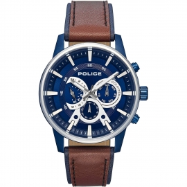 WATCH POLICE AVONDALE MULTI BLUE DIAL BROW&BLUE ST R1451306002