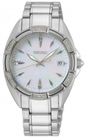 WATCH SEIKO LADIES CUARZO 18 DIAMANTES MOP SKK883P1