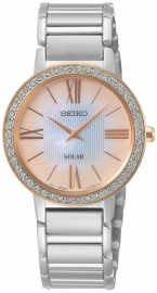 WATCH SEIKO LADIES SOLAR 45 SWARIVSKI MOP SUP432P1