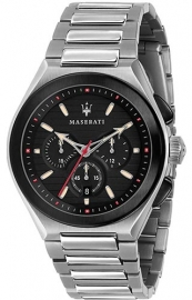WATCH MASERATI TRICONIC 43MM CHR BLACK DIAL BR SS R8873639002
