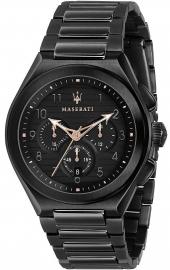 WATCH MASERATI TRICONIC 43MM CHR BLACK DIAL BR BLACK R8873639003