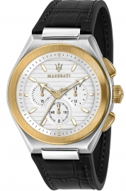 WATCH MASERATI TRICONIC 43MM CHR WHI SILVER D BLK ST R8871639004