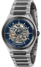 WATCH MASERATI TRICONIC 40MM AUTO BLUE DIAL BR GUN R8823139001