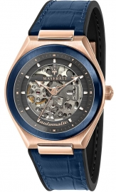 WATCH MASERATI TRICONIC 40MM AUTO GRAY DIAL BLUE ST R8821139002