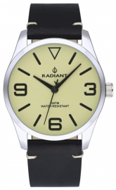 WATCH RADIANT DARTH 42MM BEIGE DIAL BLACK LEATHER STRA RA533202