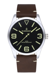 WATCH RADIANT DARTH 42MM BLACK DIAL BROWN LEATHER STRA RA533201