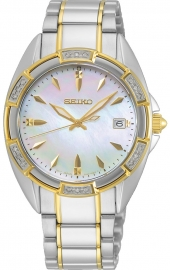 WATCH SEIKO LADIES CUARZO 18 DIAMANTES MOP SKK880P1