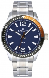 WATCH RADIANT OVI 44MM BLUE DIAL SILVER SS BAND RA534202