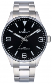 WATCH RADIANT BAGLEY ALL SS 40MM BLACK DIAL SILVER BAN RA536202