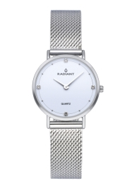 WATCH RADIANT ARIEL 30MM WHITE DIAL SILVER SS MESH RA529602