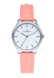 WATCH RADIANT LEYA 34MM SILVER DIAL PINK LEATHER STRAP RA520601
