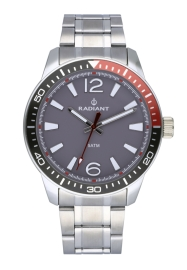 WATCH RADIANT OVI 44MM GREY DIAL SILVER SS BAND RA534203