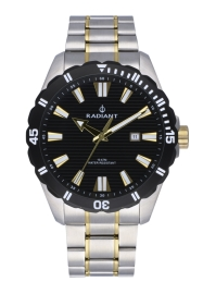 WATCH RADIANT TAGRAD ALL SS 44MM BLACK / 2TONE IPG BAN RA480206