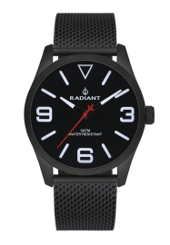 WATCH RADIANT DARTH 42MM BLACK DIAL BLACK SS MESH RA533204