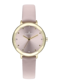WATCH RADIANT KATRINE 34MM PINK DIAL PINK LEATHER STRA RA467608