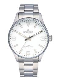 WATCH RADIANT BAGLEY ALL SS 40MM WHITE DIAL SILVER BAN RA536203