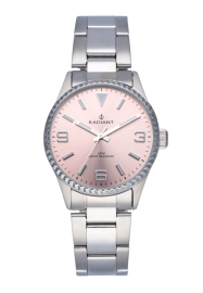 WATCH RADIANT MULAN ALL SS 30MM PINK DIAL SILVER BAND RA537203