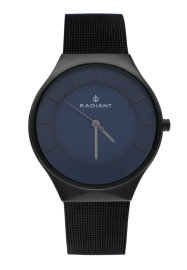 WATCH RADIANT HANS 41MM BLUE DIAL GUN SS MESH RA531601