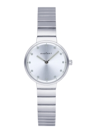 WATCH RADIANT CLARKE 28MM SILVER DIAL SILVER SS BAND RA521201