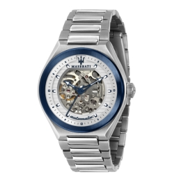 WATCH MASERATI TRICONIC 43MM AUTO WHITE DIAL BR SS R8823139002