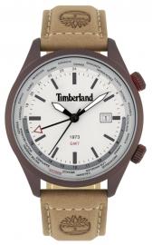 WATCH TIMBERLAND MALDEN 45MM GREY 3H DATE CAMEL LEATHER 15942JSBN-13
