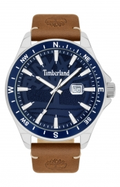 WATCH TIMBERLAND SWAMPSCOTT 46MM NAVY 3H DATE TAN LEATHER 15941JYTBL-03