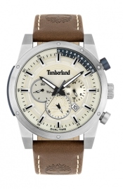 WATCH TIMBERLAND SHERBROOK 46MM SILVER MULTI BROWN LEATHE 15951JS-04