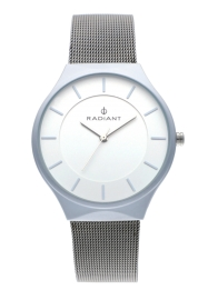 WATCH RADIANT HANS 41MM WHITE DIAL SILVER SS MESH RA531602
