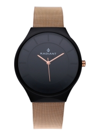 WATCH RADIANT HANS 41MM BLACK DIAL IPRG SS MESH RA531603