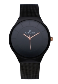 WATCH RADIANT HANS 41MM BLACK DIAL BLACK SS MESH RA531604