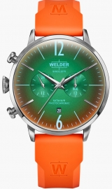 WATCH WELDER 45MM DUAL TIME ORANGE SILICONE STRAP GRE WWRC516