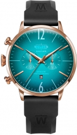 WATCH WELDER 45MM DUAL TIME BLACK SILICONE ST TURQUOI WWRC512