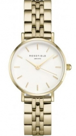 WATCH ROSEFIELD THE SMALL EDIT WHITE STEEL GOLD 26WSG-267