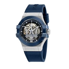 WATCH MASERATI POTENZA AUTO 42MM BLK+BLUE DIAL BLUE ST R8821108028
