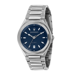 WATCH MASERATI TRICONIC 40MM 3H BLUE DIAL BR SS R8853139002