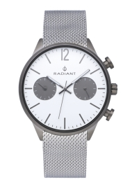 WATCH RADIANT LUKE 42MM SILVER DIAL SILVER SS MESH RA532702
