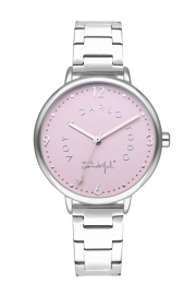 WATCH MR WONDERFUL WATCH SHINE AND SMILE / SILVER&PINK / BR WR10100