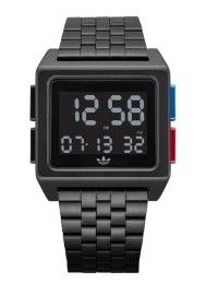 WATCH ADIDAS ARCHIVE_M1 ALL BLACK / BLUE / RED Z013042-00