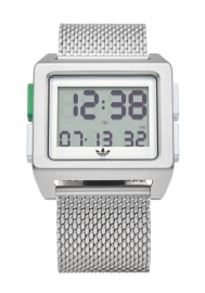 WATCH ADIDAS ARCHIVE_M1 SILVER / WHITE / GREEN Z013244-00