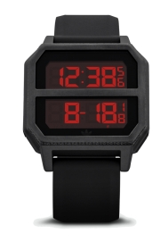 WATCH ADIDAS ARCHIVE_R2 ALL BLACK / RED Z16760-00