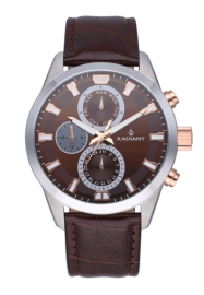 WATCH RADIANT GUARDIAN ALL SS 44MM BROWN DIAL&LEAT. ST RA479709