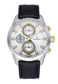 WATCH RADIANT GUARDIAN ALL SS 44MM SILV / BLK LEAT. ST RA479710