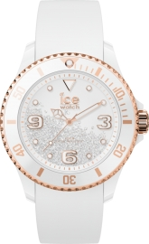 WATCH ICE WATCH CRYSTAL - WHITE ROSE-GOLD - SMOOTH - 3H IC017248