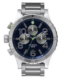 WATCH NIXON 48-20 CHRONO MIDNIGHT BLUE / VOLT GREEN A4861981