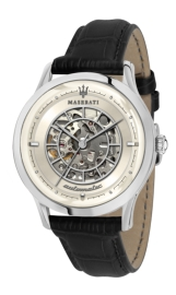 WATCH MASERATI RICORDO 42MM AUTO IVORY DIAL BLACK ST R8821133006