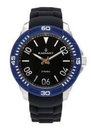 WATCH RADIANT AREN 46MM BLACK BLUE DIAL BLACK SILI + T RA503602T