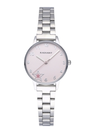 WATCH RADIANT ICON 28MM PINK DIAL SS BRACELET RA555202